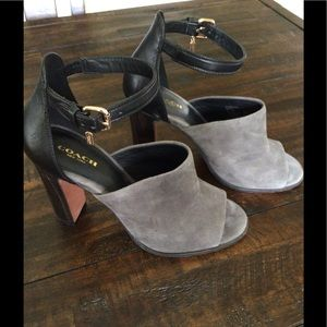 Coach Heels - Soft grey and black